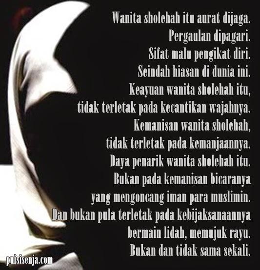 Puisi Cinta Wanita Solehah
