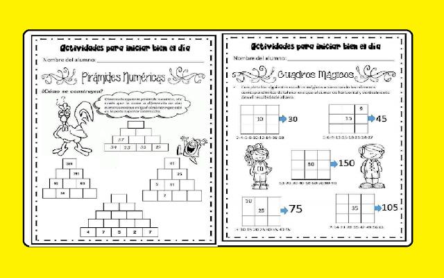 material educativo, problemas de matematicas, calculo mental, escuela primaria
