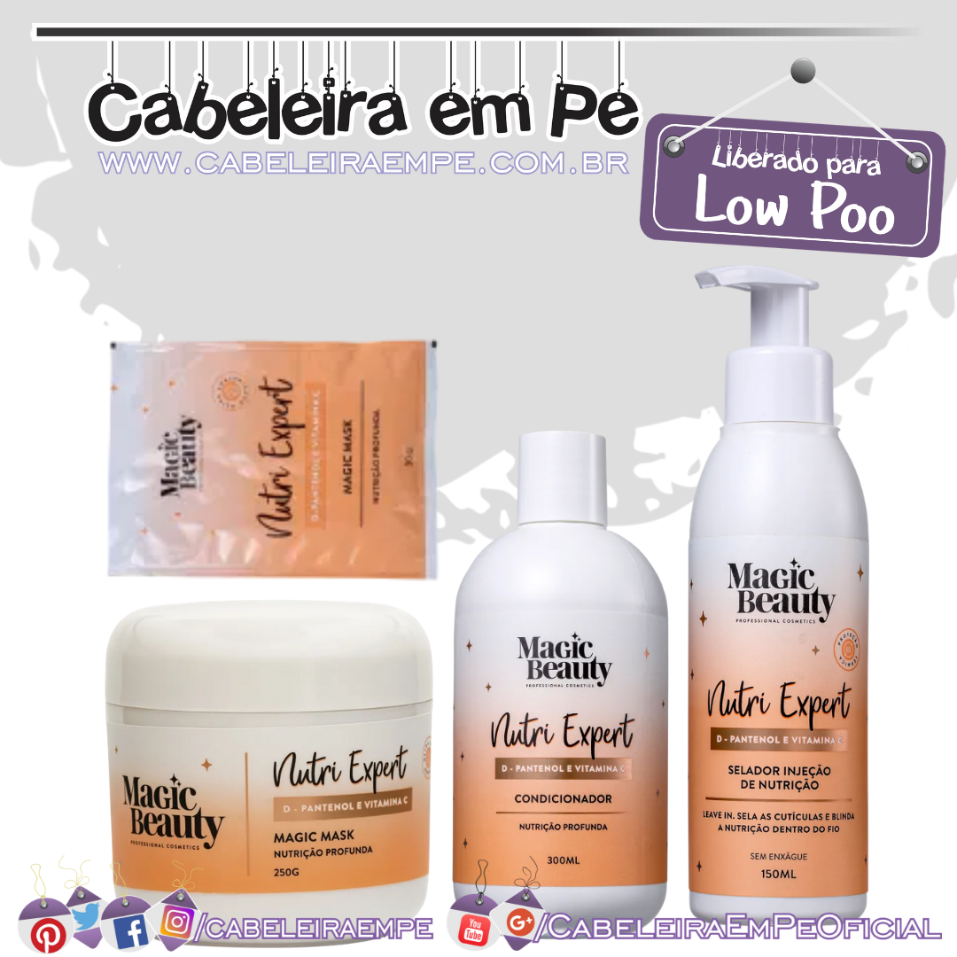 Condicionador, Selador, Máscara e Sachê Nutri Expert - Magic Beauty (Low Poo)