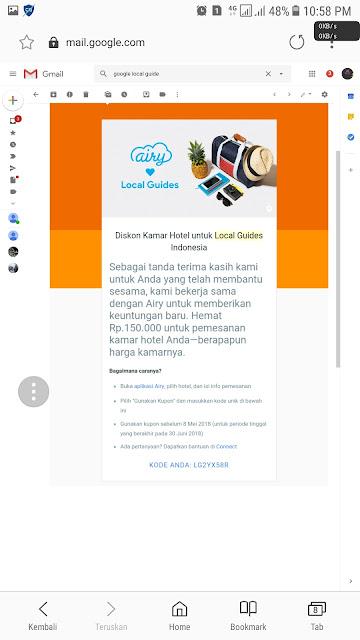Hadiah - Hadiah Menarik Yang di Dapatkan Oleh Local Guide (Penkontribusi GoogleMap)