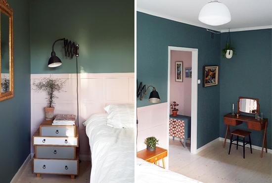 quarto de casal, parede cinza, parede escura, decoração, decor, master bedroom, quarto de casal decorado, criado mudo, penteadeira