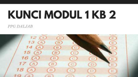 Soal dan Jawaban Tes Formatif Modul 1 KB 2