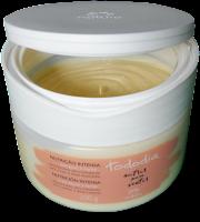 Manteiga Corporal Hidratante Nutrição Intensa Noz Pecã e Karité: Desodorante Ultra Hidratante para o Corpo e Áreas Ressecadas Natura Tododia Tampa aberta cheiro bom