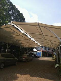 jasa pembuatan canopy kain canopy membrane dan awning gulung tangerang