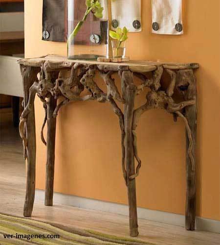 Mis puntadas preferidas reciclado con ramas y troncos de for Asian furniture tampa