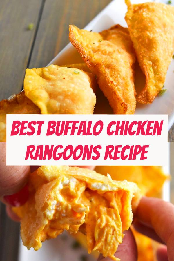 Best Buffalo Chicken Rangoons Recipe | A contort on the great crab rangoon. Bison sauce, destroyed chicken, and cream cheddar, singed together in a wonton for the ideal brilliant wild ox chicken wonton. #dinner #appetizers #chicken