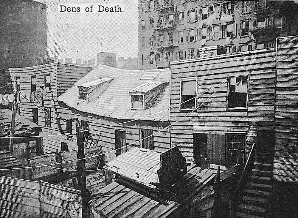 a 1902 slums neighborhood photograph, dens of death