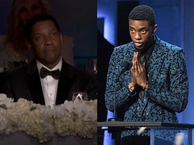 Chadwick Boseman y Denzel Washington