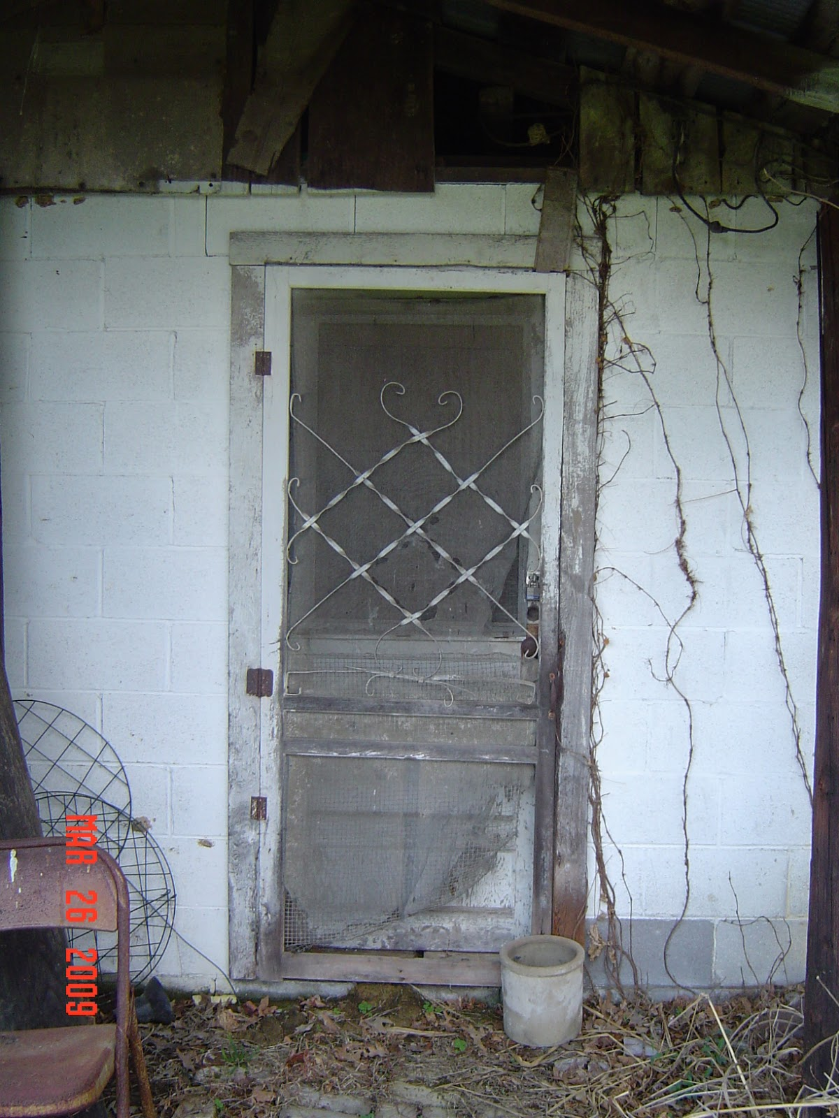 The View From My Front Porch Just An Old Wood Screen Door