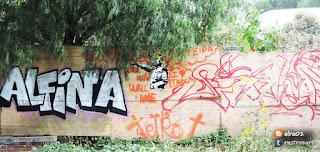 graffiti de alfina y elra