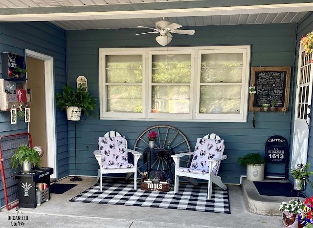 Foto de um pátio coberto decorado com verão.