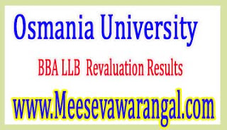 Osmania University BBA LLB August 2016 Revaluation Results