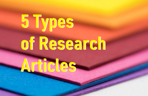 5 Types of Research Articles