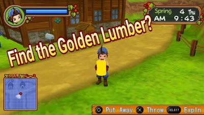 Where Can I Find Golden Lumber in Harvest Moon: Hero of Leaf Valley