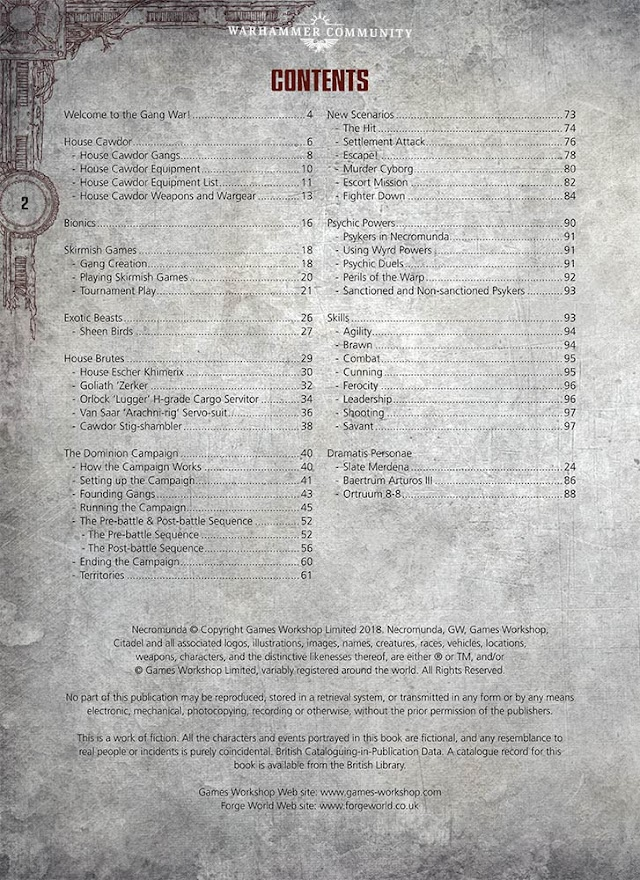 Gang War IV Contents Page Revealed