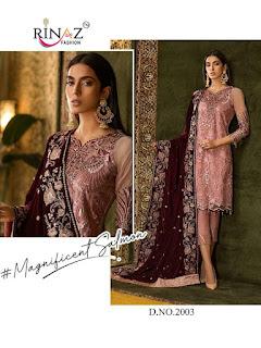 Rinaz Fashion Jazmin Vol 8 Georgette Pakistani Suits Wholesale Rate