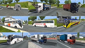 Truck traffic pack 1.4 - mod by jazzycat