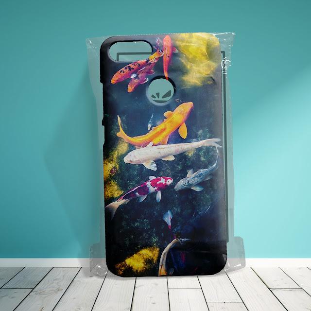 Mockup Gratis Custom Case 3D Xiaomi Mi A1 dalam Kemasan Plastik