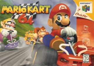 Capa do jogo Super Mario Kart 64 para N64