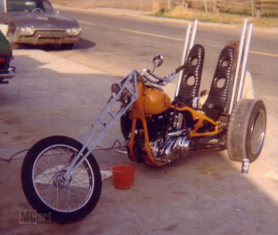 MC Art/Motorcycle Art: Sacraknucklehead Trike