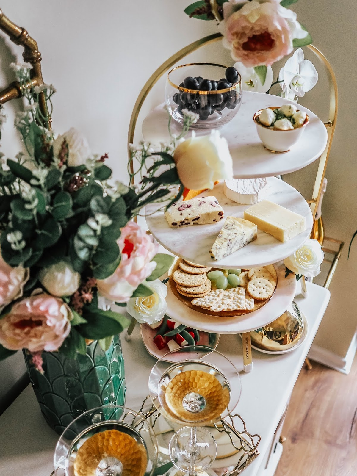 Food Blog Luxury Cheeseboard Styling