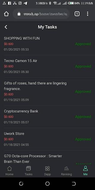 Task Credit of uwork V1