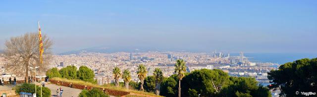 Vista Panoramica di Barcellona dalla collina del Montjuic