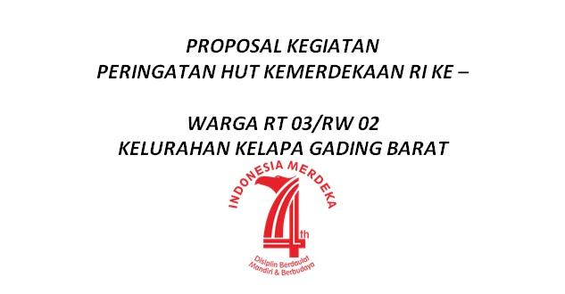 proposal hut ri yang ke 74