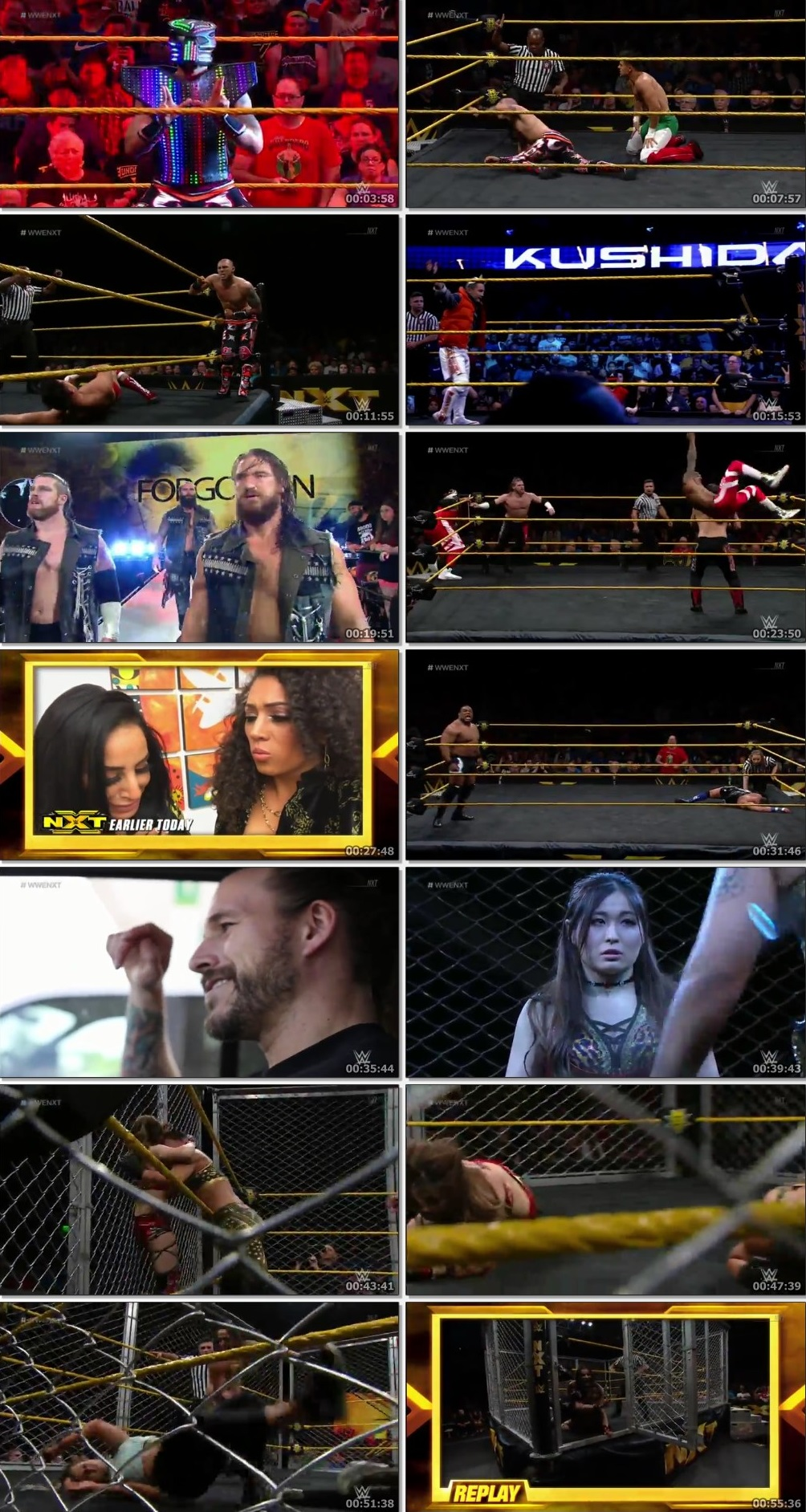 Screen Shot Of WWE NXT 26th June 2019 HDTV 480P 300MB