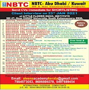 KUWAIT JOBS : REQUIRED FOR NBTC OIL AND GAS PROJECTS IN KUWAIT .g