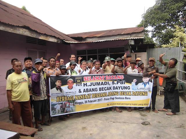 Berkhidmat untuk Rakyat, Jumadi Silaturrahim Bersama Abang Becak