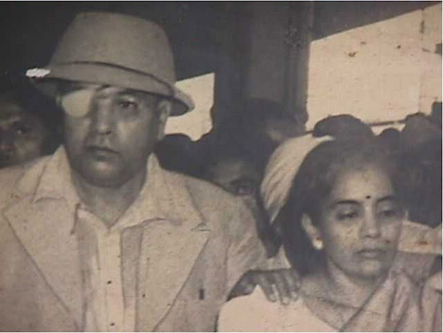 Dr. Ambedkar with his wife Mrs. Savita Ambedkar after his cataract conducted at Delhi in 1953