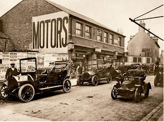 1910 image of the Motor Engineering Co, Swindon