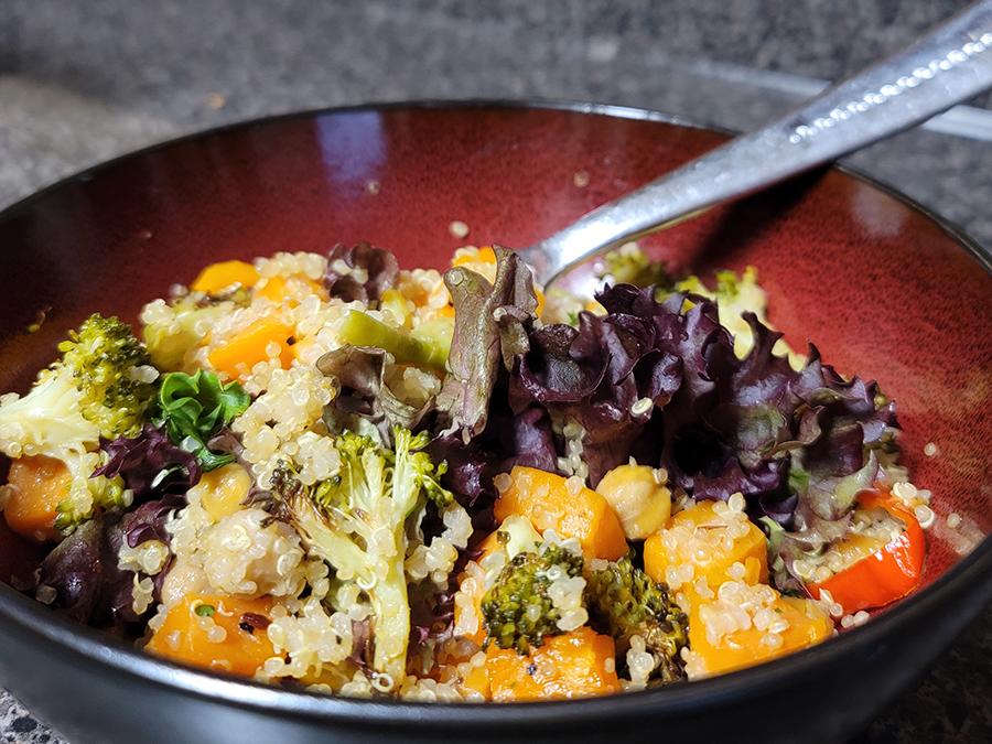 Roasted Broccoli Quinoa Salad