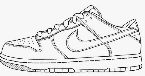 Nike Hyperdunk Coloring Pages Coloring Pages - Coloring Pages