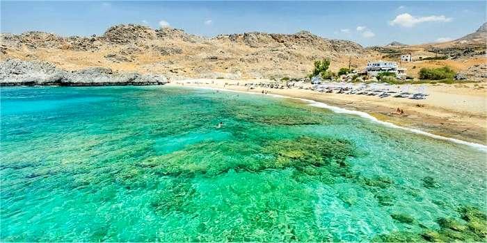 La spiaggia di Schinaria, Creta, Grecia