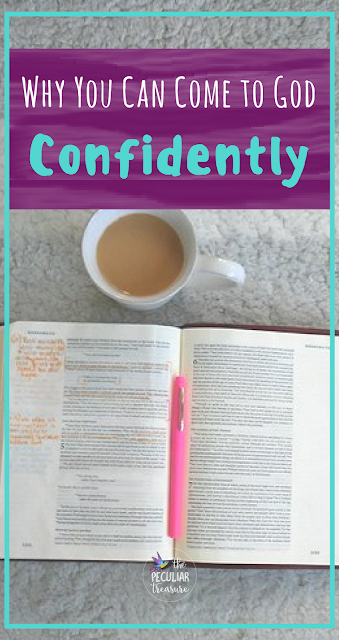 Come boldly and confidently to God. He gives us grace and mercy through Jesus. #faith #Christianity #biblestudy