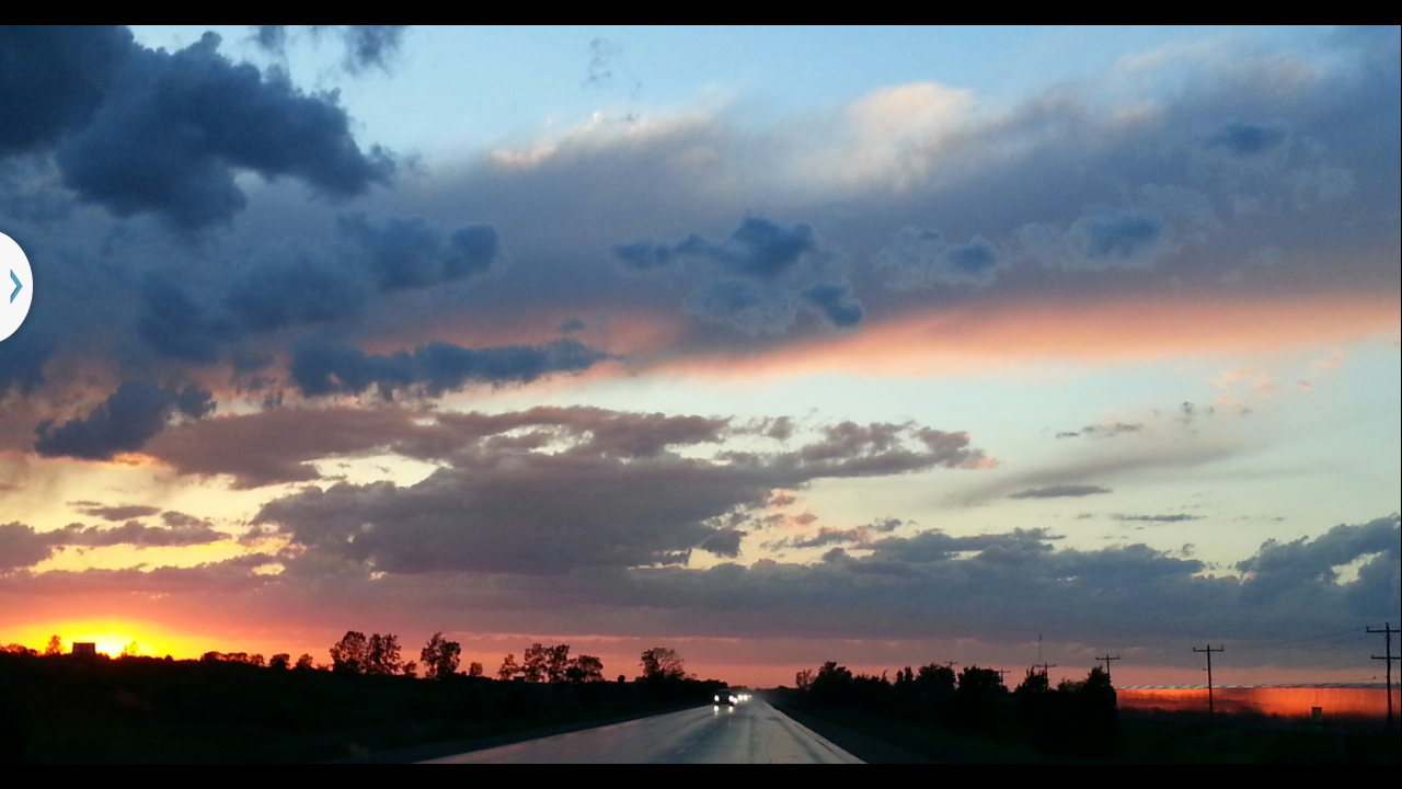 on a slightly busy highway some sunset and weather