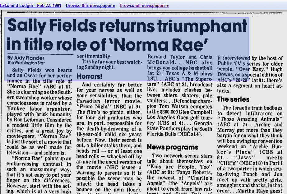 norma rae and labor issues