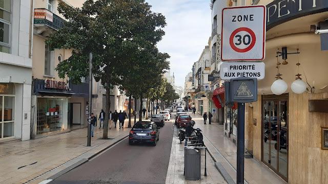 Début de la rue Georges Clemenceau (15 mars 2020)