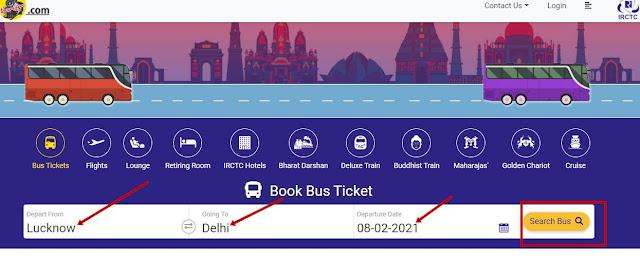 irctc bus booking