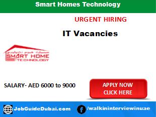 Smart Homes Technology career for IT Engineer job in Dubai