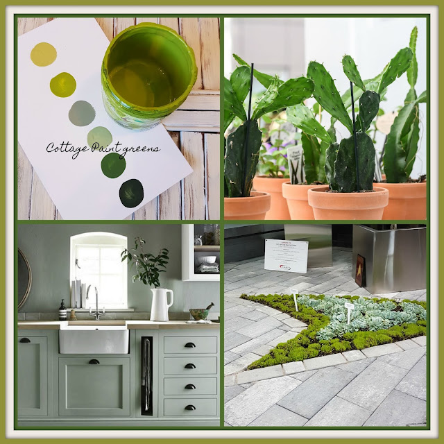 green collage of Cottage Paint