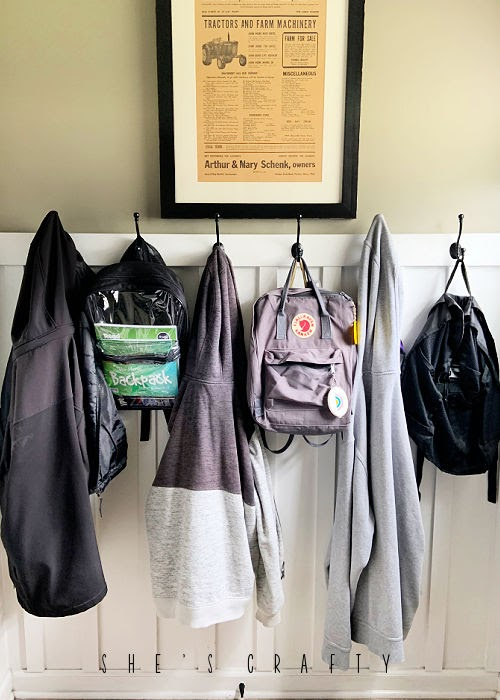 Back to School Ideas - make a landing zone for backpacks