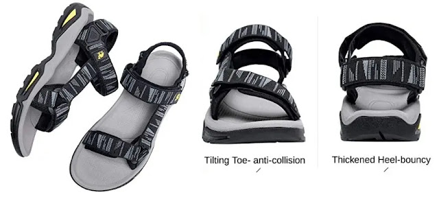 10-  CAMEL CROWN Sandals Waterproof Support