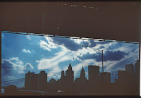 Painted Sky Between Two Bridges, 2019