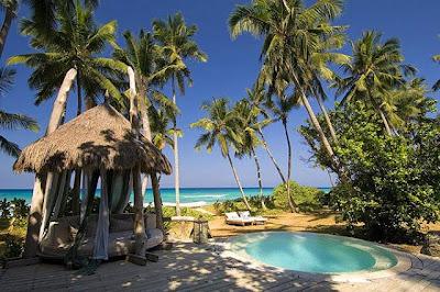 Hermosa isla privada y cabaña de lujo