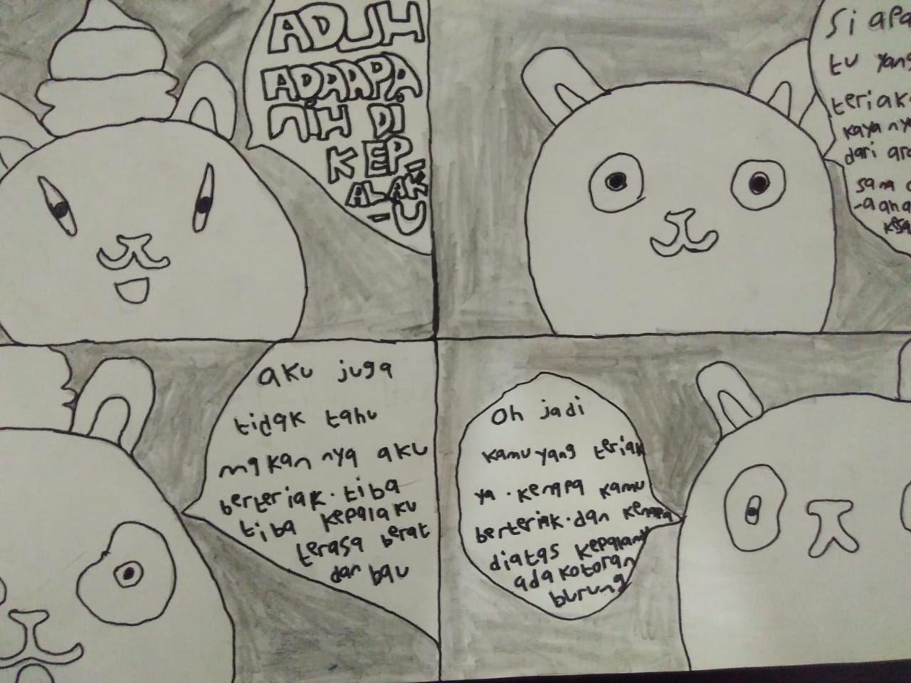 √Contoh Komik yang Menarik Karya Anak Kelas 5 SD - gurune.net