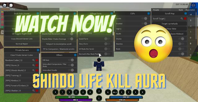 ROBLOX - SHINDO LIFE GUI KILL AURA I | PASTEBIN