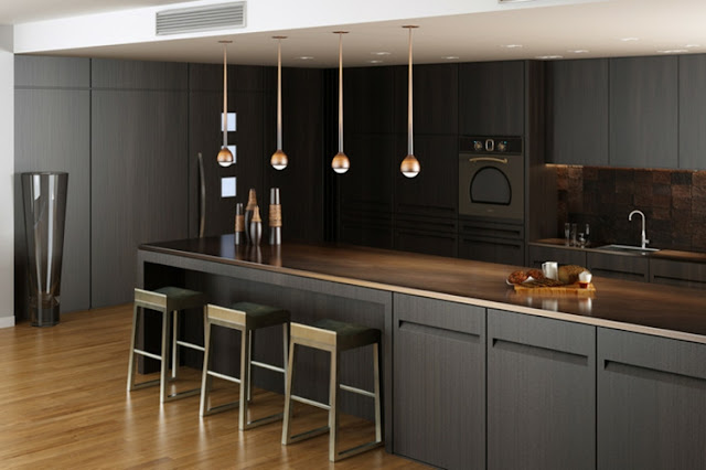 the kitchens dark colors designs details orange
